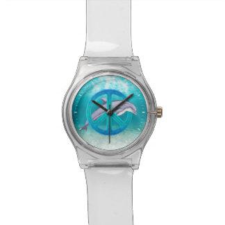 Paz del delfín relojes de pulsera