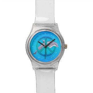 Paz del delfín reloj de mano