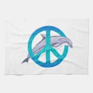 Paz del delfín toalla