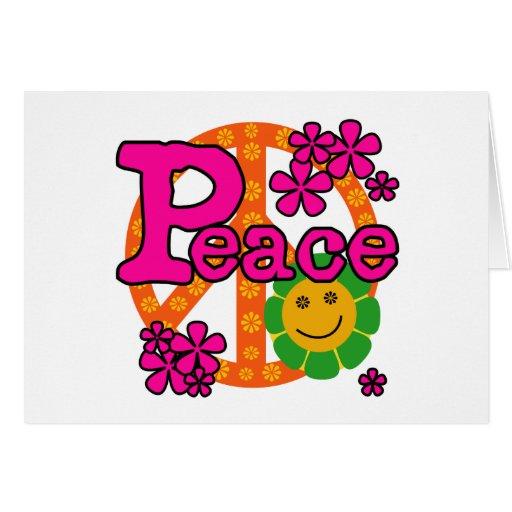 paz del estilo 60s felicitacion