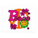 paz del estilo 60s tarjeta postal