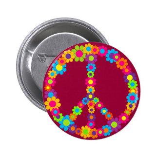 Paz del flower power pins