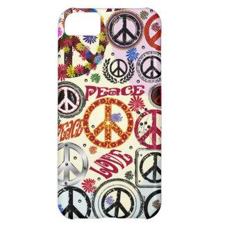 Paz del flower power y caso del iPhone 5 c del Hip