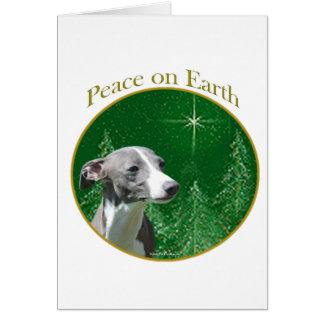 Paz del galgo italiano tarjeta de felicitación