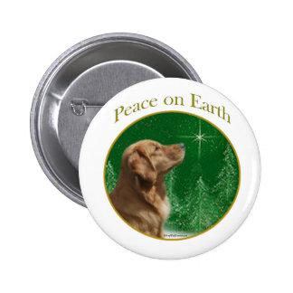 Paz del golden retriever pin