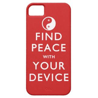 Paz del hallazgo con su dispositivo funda para iPhone SE/5/5s