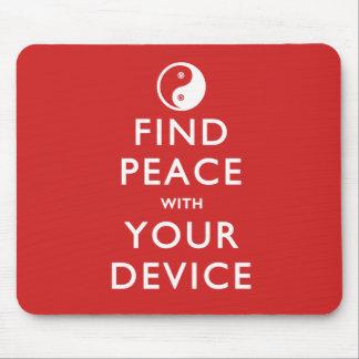 Paz del hallazgo con su dispositivo tapete de ratones