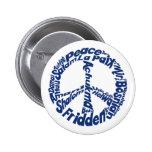 Paz del Hippie en todas las idiomas Pin