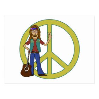 Paz del Hippie Tarjeta Postal