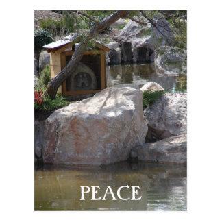 Paz del jardín tarjeta postal
