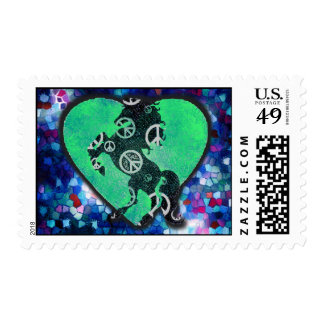 Paz del mosaico timbres postales