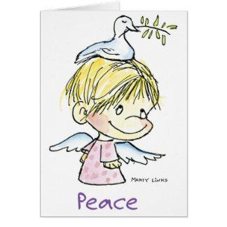 Paz del navidad CH-009 Tarjeta De Felicitación