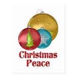 Paz del navidad postales