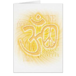 Paz del ohmio tarjeta de felicitación
