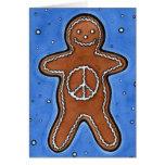 Paz del pan de jengibre tarjetas