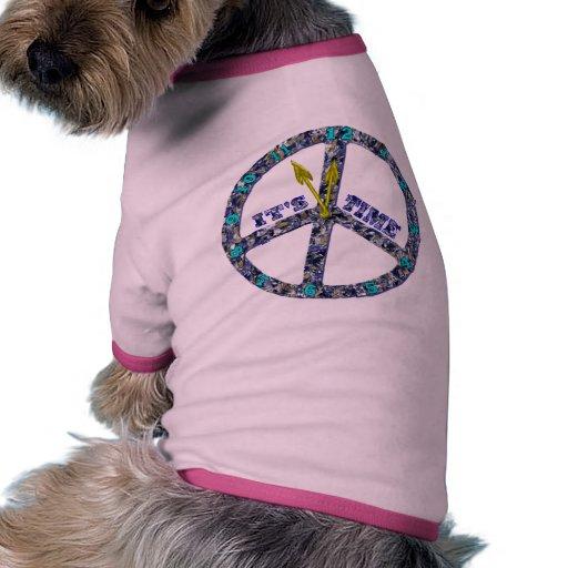 Paz del perrito camisetas mascota