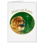 Paz del perro chino de perro chino tarjeta