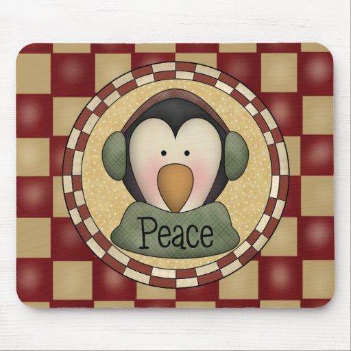 Paz del pingüino tapetes de ratones