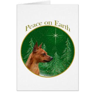 Paz del Pinscher miniatura Tarjetas