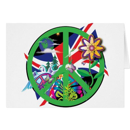 Paz del planeta tarjeta de felicitación