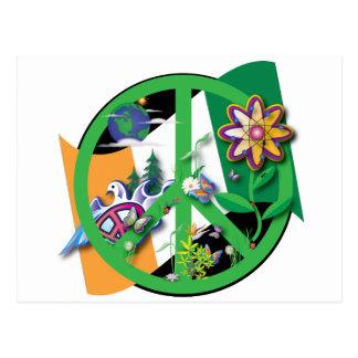 Paz del planeta tarjetas postales