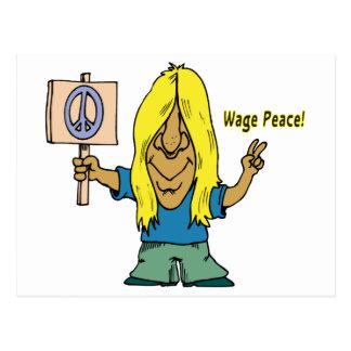 ¡Paz del salario! ¡No guerra! Tarjeta Postal