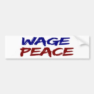 Paz del salario pegatina para auto