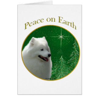 Paz del samoyedo tarjeta
