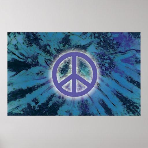 Paz del teñido anudado póster