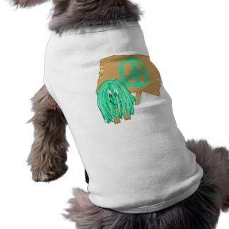 Paz del verde de mar playera sin mangas para perro