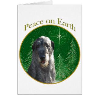 Paz del Wolfhound irlandés Tarjeta De Felicitación