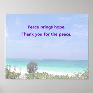 Paz dentro póster