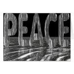 Paz - diseño altamente reflexivo 3D Tarjeta