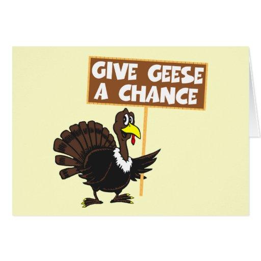 Paz divertida de la parodia de Turquía Tarjeta De Felicitación