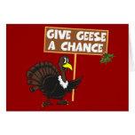 Paz divertida de la parodia de Turquía Felicitaciones