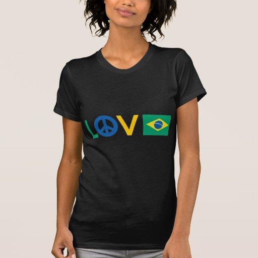 Paz el Brasil del amor Camisas