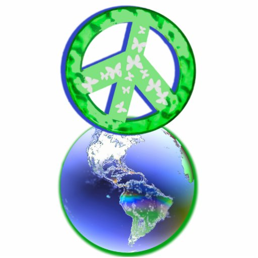 Paz el Día de la Tierra Escultura Fotografica