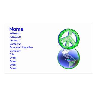 Paz el el Día de la Tierra - negocio Plantillas De Tarjeta De Negocio