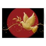 Paz elegante de la paloma del día de fiesta del na tarjeta
