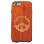 Paz embutida funda de iPhone 6 tough