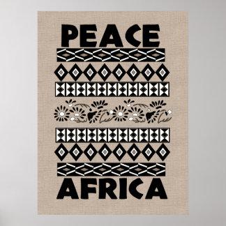 Paz en África Póster