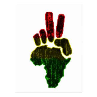Paz en África Tarjeta Postal