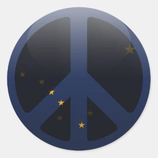 Paz en Alaska Etiqueta Redonda