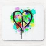 Paz en amor tapetes de raton
