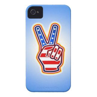 Paz en caso del iPhone 4 de América Funda Para iPhone 4