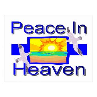 Paz en cielo tarjetas postales