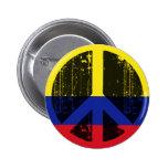 Paz en Colombia Pin Redondo 5 Cm