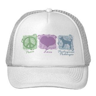 Paz en colores pastel, amor, y portugués liso Pode Gorros
