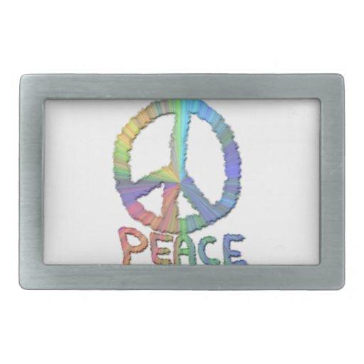 Paz en colores pastel hebillas cinturón