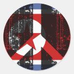 Paz en Corea del Norte Etiquetas Redondas